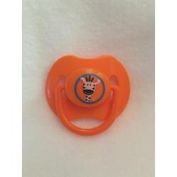 Orange Zebra Magnetic Pacifier